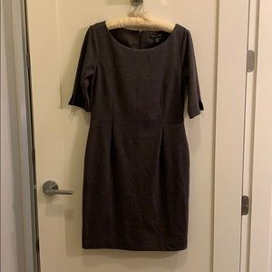 Banana Republic Dark Grey Ponte Dress